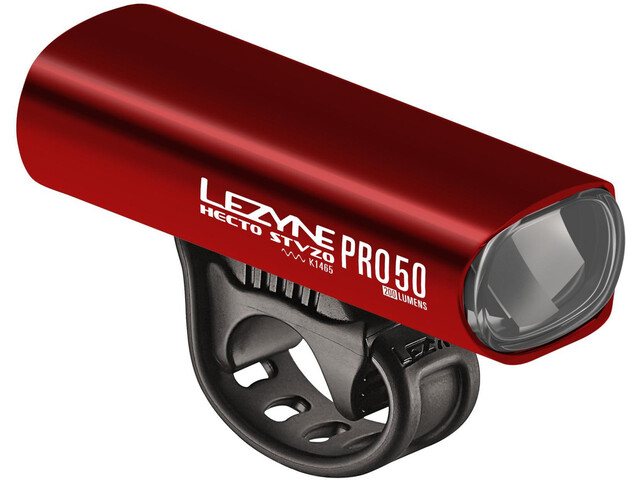 Lezyne Hecto Drive Pro 50 Front Lighting Y11, glossy red/white